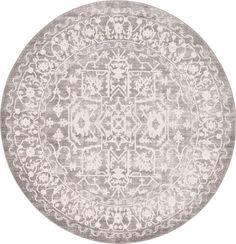 Light Gray 6' x 6' New Vintage Round Rug | Area Rugs | eSaleRugs | $199