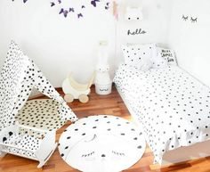 You can never get enough dots (or spots)! We especially love how @marinacabero has playfully distributed them throughout this cutest room! www.ooh-noo.com