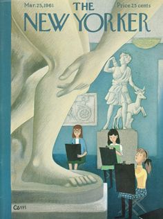 Charles E. Martin : Cover art for The New Yorker 1884 - 25 March 1961