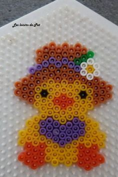 Easter chick hama perler by Les loisirs de Pat