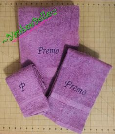 Monogrammed Towels As Gifts!