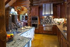 primitive kitchens,rustic kitchen decor,log home kitchens,log cabin kitchens,primitive log home cooking pits  01604