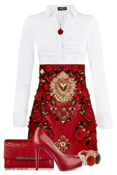 """""""Dolce & Gabbana"""" by rosipolooyas on Polyvore featuring moda, Morgan, Dolce&Gabbana, Christian Louboutin, Erica Lyons, GUESS y Bling Jewelry"""