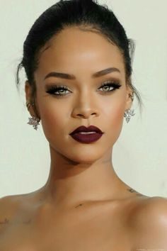 Rihanna. That lipstick color is LIFE! EVE.RY.THANG!