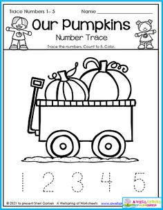 These kids must have taken a trip to the pumpkin patch! Your kids simply trace the numbers 1-5 (rainbow colors if they want). Great for number formation practice and confidence building. Please check out all 50 pages in my Fall Counting Worksheets for Kindergarten set. There's more number tracing, count to 5, 10, 15, 20 and even 100! Loads of fun ahead! Counting Worksheets For Kindergarten, Alphabet Tracing Worksheets, Kindergarten Age, Number Worksheets, Upper And Lowercase Letters, Lower Case Letters, Counting To 20, Number Formation, Number Tracing