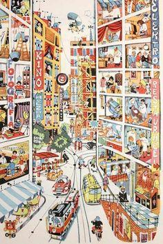 Nice big Pin Encyclopedia for children, by Bohumil Riha, illustrated by Vladimir Fuka (Vladimir Fuca) Art Postal, Inspiration Art, Arte Popular, Illustrations And Posters, Children's Book Illustration, Illustrators, Cool Art, Artsy, Art Prints