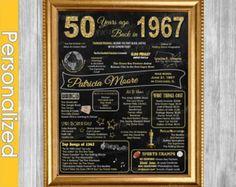 Back In 1967 50th Birthday DIGITAL Poster Printable by TalkInChalk