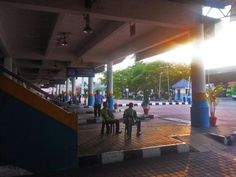 How to Get to Sungai Nibong Bus Terminal in Penang, Malaysia: Penang's Sungai Nibong Bus Terminal early in the morning.