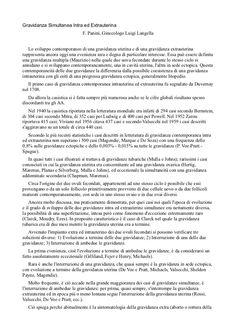 Un report del ginecologo Luigi Langella sulla gravidanza.
