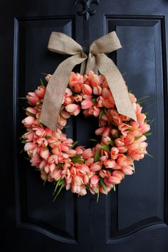 Tulip+wreath+Spring+wreathSummer+Wreath++by+OurSentiments+on+Etsy,+$85.00