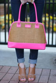 Kate Spade bag - It's been a while since there has been a Kate Spade bag I want. I would love it if the pink were bright green.
