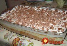 Bez pečenia a úplne neodolateľný. Vyskúšajte šľahačkový dezert s čokoládou, vanilkovým krém a jablkami!