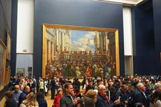 Inside Musée du Louvre: The Wedding at Cana (Paolo Veronese) Latin Quarter, Louvre, Air France, Saint Germain, Tour Eiffel, City Lights, Art Museum, Medieval, Chill