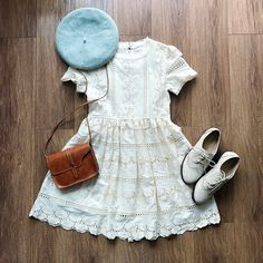 Eyelet Floral Embroidery Dolly Dress
