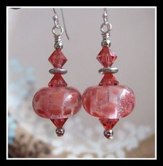 Such pretty earrings ;~D Coral Lily by joanne79 on Etsy, $22.00 #onfireteam #lacwe #handmade