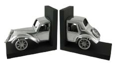 Cast Aluminum Vintage Automobile Bookends Car by Things2Die4. $48.99. Made of cast aluminum, this awesome pair of antique automobile bookends is great for anyone who loves vintage vehicles. The car is split in half, with the front end on one base and the back end on the other. The wooden bases measure 7 inches tall, 6 inches wide and 4 1/4 inches deep.  They look great on bookshelves and on top of desks or tables.