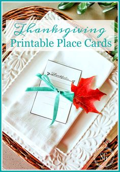 10 MINUTE DECORATING EASY PRINTABLE THANKSGIVING PLACE CARDS