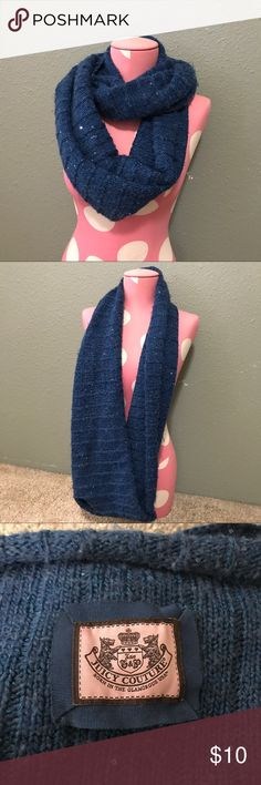 Juicy couture infinity scarf Blue knit infinity scarf Juicy Couture Accessories Scarves & Wraps
