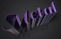 Create a Sleek Metallic 3D Text Effect in Photoshop CS6