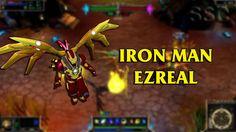 Iron Man Ezreal LoL Custom Skin ShowCase