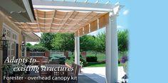 Retractable Pergola Canopies & Awnings Iron Pergola, Curved Pergola, Small Pergola, Pergola Swing, Pergola Plans, Pergola Kits, Pergola Roof, Garage Pergola, Pergola Cover