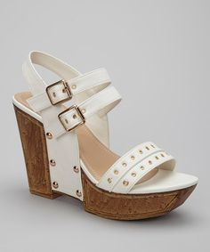 Take a look at this White Quintina01 Wedge by Rosette on #zulily today!