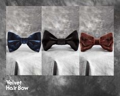 Velvet Hair Bow by #AmericanApparel.