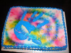 Blue Man Group cake