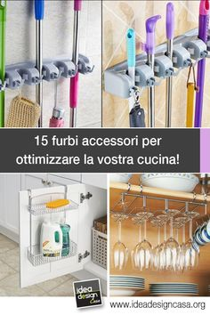 Accessori furbi per ottimizzare la cucina! Eccone 15... Date un'occhiata! Kitchen Cabinet Organization, Home Organization, Keeping Healthy, Essential Oil Blends, Sweet Home, Projects To Try, Kitchen Appliances, House Design, Diy