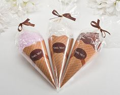 Ice Cream Cone Towel Favor  Cute idea for bridal shower favor!