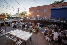 Toronto Patio Guide - Cherry Street Bar-B-Que (Port Lands) Best Restaurants In Toronto, White Oak Wood, Bar B Que, Best Bbq, Beef Ribs, Southern Style, The Neighbourhood, Cherry, Turkey Chicken