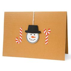 Joyful Tidings -- super-cute homemade card -- Making the Frosty face is easier than you think!