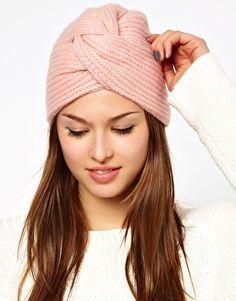 Alice Hannah Angora & Lambswool Blend Twisted Rib Beads & Sequin Turban
