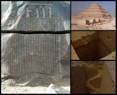Evidence of Joseph's graneries at ancient step pyramid. The Exodus Discovered! Egypt to Arabia