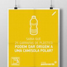 Temos boas notícias para si, agora que o tempo está frio. Sabia que a reciclagem de 25 garrafas de plástico pode dar origem a uma nova camisola polar? Não se esqueça de reciclar... e até à primavera, mantenha-se agasalhado.
