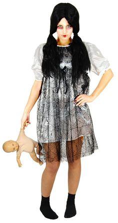 0123766579af  werbung   Gruseliges Halloweenkostüm  weißes Horror Puppen Kleid -  Schauriges Halloween Kostüm für Damen    Zombie  Kostüm  Geist  Karneval   halloween