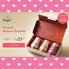 [SÓ HOJE - 17/08] OFERTA EXCLUSIVA PARA COMPRA VIA MOBILE Presente Natura Tododia  Por R$33,21 Shop Mobile ⤵ m.rede.natura.net/espaco/naturacamis Consultora Natura Digital: Camila Bedani Morelli