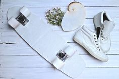 White Leather Soul Deck and kicks. Uh huh