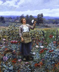 Picking Poppies by Daniel Ridgway Knight
