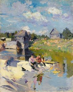 urgetocreate: Konstantin Korovin, Fishing On A Sunny Day, 1885