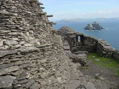Skellig Michael - an island off the coast of Ireland, complete with monastic ruins and Puffins!  I think you can only get there by fishing boat.  A definite on the bucket list!