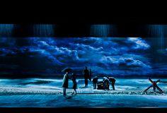 Note: beach, piers, sand, seascape Soldaat van Oranje (Soldier of Orange) Stage Lighting Design, Stage Design, Tent Lighting, Set Design Theatre, Prop Design, Shakespeare, Sound Installation, Film Inspiration, Stage Set