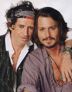 Keith And Johnny Depp by gataloka2009. The Rolling Stones. Keith Richards. #TheRollingStones #KeithRichards #RonnieWood #CharlieWatts #MickJagger #BillWyman #CrosseyedHeart