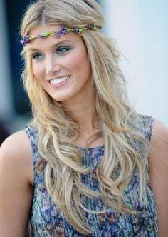 Offene Haare lässig gewellt-Boho-Frisur mit Wellen-selber machen