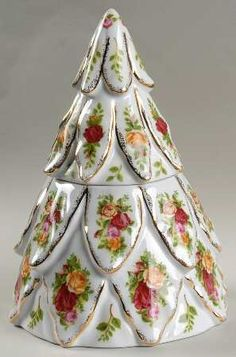 Treat Jar &  Lid in the Old Country Roses-Holiday Giftware pattern by Royal Albert China