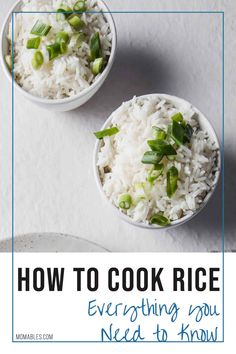 No need for a rice maker here. This post will show you everything on how to make tender, fluffy rice on the stove-top, in the microwave, slow-cooker, and Instant pot! Healthy Foods To Eat, Healthy Dinner Recipes, Real Food Recipes, Skinny Recipes, Keto Recipes, Fall Recipes, Asian Recipes, Rice Maker, Rice On The Stove