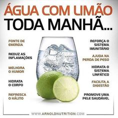 Água com Limão Lemon water every morning, see the benefits. Best Detox Program, Healthy Cooking, Healthy Life, Healthy Weight, Comidas Fitness, Dieta Fitness, Bebidas Detox, Full Body Detox, Detox Tips