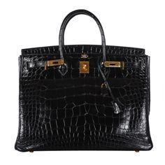 83c5ec7035 BEST BAG EVER! Hermes Birkin Bag BLACK 40cm Alligator CRAY CRAY BAG!