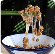 Natto - good source of vitamin K7, fermented soy beans, japanese food