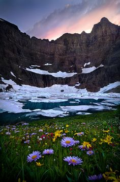 Iceberg Lake Sunset,Montana via Flickr.